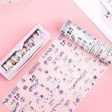 misaki マスキングテープ 10巻入り 少女 彼岸花 お花 海 星 マステシール 和紙テープ 日記手帳飾り 可愛い DIY装飾 剥がしやすい