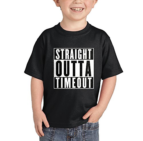 HAASE UNLIMITED Straight Outta Timeout T-Shirt (Black, 4T)