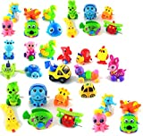 """Large 25 Pieces Assorted Wind-up Toys Christmas Stuffer for Kids Party Favors No Duplicates, 4"""" size"""