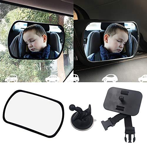 MFEI Babyspiegel fürs Auto - Babyautositzspiegel Stabilster Rücksitzspiegel mit Premium-Mattlackierung - Freie Sicht auf das Kind auf dem Rücksitz - Sicher, sicher und bruchsicher