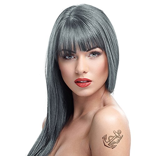 4 Crazy Color Semi Permanent Hair Colour Dyes by Renbow 100ml Graphite 69
