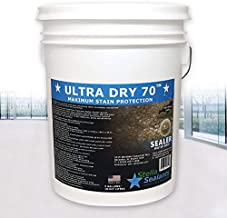 Ultra Dry 70 Premium Penetrating Natural Stone Sealer for Tile Pool Deck Patio Paver Driveway Water-Base Natural Look Stain Proof Matte Finish (5Gallons)