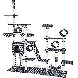 TecTake 800523 Árbol Rascador para Gatos | 4 Tubos | 2 Cuerdas para Juegos | 2 Escaleras (Negro con...