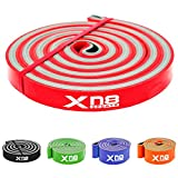 <span class='highlight'>Xn8</span> <span class='highlight'>Sports</span> Resistance Bands Pull Up Band Exercise Workout Bands for Yoga Powerlifting Mobility Exercise Men Women (1 - Red (Lightest))