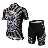 Maillot de ciclismo para hombre, pantalones cortos con acolchado de gel S-5XL, transpirable, secado rápido - Negro - XX-Large