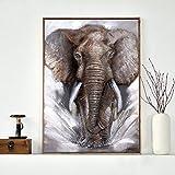 Danjiao Elefante Gris Arte De La Pared Lienzo Imágenes Carteles Decoración Para El Hogar Elefantes Animales Modernos Cuadros Impresos Decoración Sala De Estar Decor 40x60cm