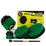 Cleaning Supplies - Drill Brush Power Scrubber Set with Extension - Dish Brush - Spin Brush Kit for Tile, Counter-tops, Stove, Oven, Sink, Trash Can, Floors - Grout Cleaner - Cast Iron, Pots and Pans