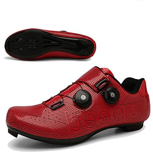 JINHU Antideslizante Zapatos De Ciclo, Transpirable Fibra De Carbono Carretera Ultralight Profesionales...