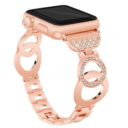 VOMA Apple Watch Diamond Stainless Steel Bracelet for Women