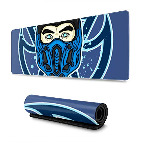 """Gaming Mouse Pad Sub Zero Mortal Kombat Long Extended Surface for Desktop Pc Computer Work Productivity Or Video Games,Laser Accuracy for Fast Responsiveness,11.8"""" X 31.5"""""""