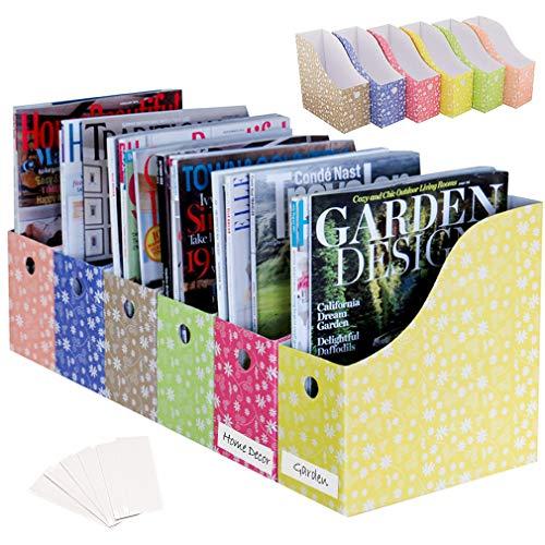 Evelots Zeitschriftensammler, 10,2 cm breit, floral, mit Etikett, 12 Stück