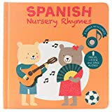 Cali's Books Spanish Nursery Rhymes Sound Book for Babies,Toddlers 1-3, 2-4 Girl and Boy. Bilingual Spanish Childrens Book. Best Interactive and Educational Spanish Musical Toy. Favorite Spanish Songs