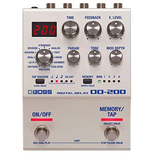 Boss DD-200 - Dispositivo digital de efectos de retardo (incluye cable jack keepdrum de 3 m)