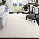 Safavieh California Premium Shag Collection SG151 2-inch Thick Area Rug, 8' x 10', Ivory