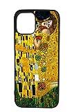 BKstuff Carcasa Opera de Arte, Cuadros Famosos Impresión HD (iPhone 11, El beso de Klimt)