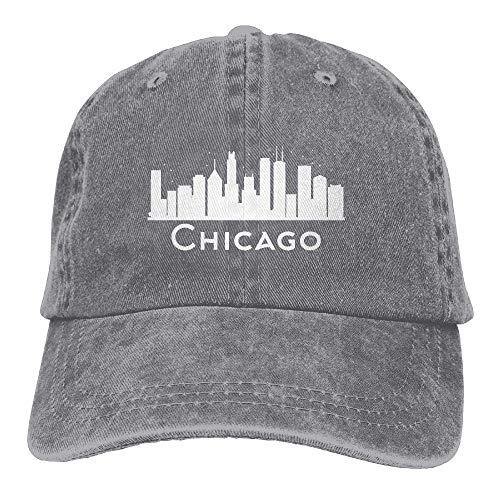 Moisture Wicking Travel Cap,Fitness Hip Hop Hat,Fast Dry Skull Cap,Chicago Illinois Skyline Il Cities Denim Jeanet Baseball Cap Adjustable Dad Hat