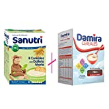 PACK DAMIRA MULTICEREALES FIBRA+ SANUTRI CEREALES CON GALLETA