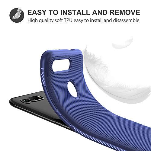 iBetter für Honor View 20 Hülle, Ultra Thin Tasche Cover Silikon Handyhülle Stoßfest Case Schutzhülle Shock Absorption Backcover Hüllen passt für Honor View 20/Honor V20 Smartphone (Blau) - 6