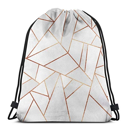 XCNGG Bolsa de gimnasia Bolsa con cordón Bolsa de viaje Bolsa de deporte Mochila escolar MochilaWhite Stone Copper Lines Gym Bag Travel Drawstring Backpack Men & Women Sport Bag Portable Storage Bag f