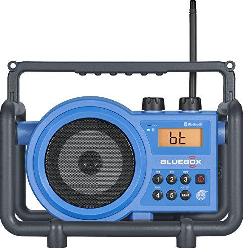 """Sangean BB-100 BlueBox AM/FM Ultra-Rugged Digital Receiver with Bluetooth, Blue, 12.4"""""""