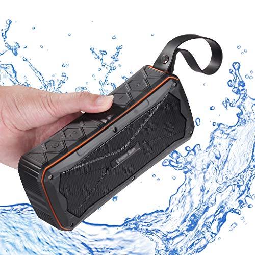 ZXQZ Altavoces portátiles Altavoces de Ducha Bluetooth, Altavoz Bluetooth Inalámbrico Resistente Al Agua con Cordón, Micrófono Incorporado, 12 Horas de Tiempo de Juego bocinas (Color : Orange)