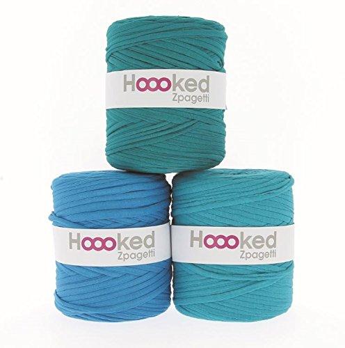 Hoooked Zpagetti Textilgarn 120 m Rolle Wahl (türkis)