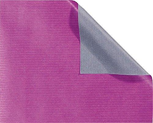 Folia Geschenkpapier 70x200mm lila-anthrazit