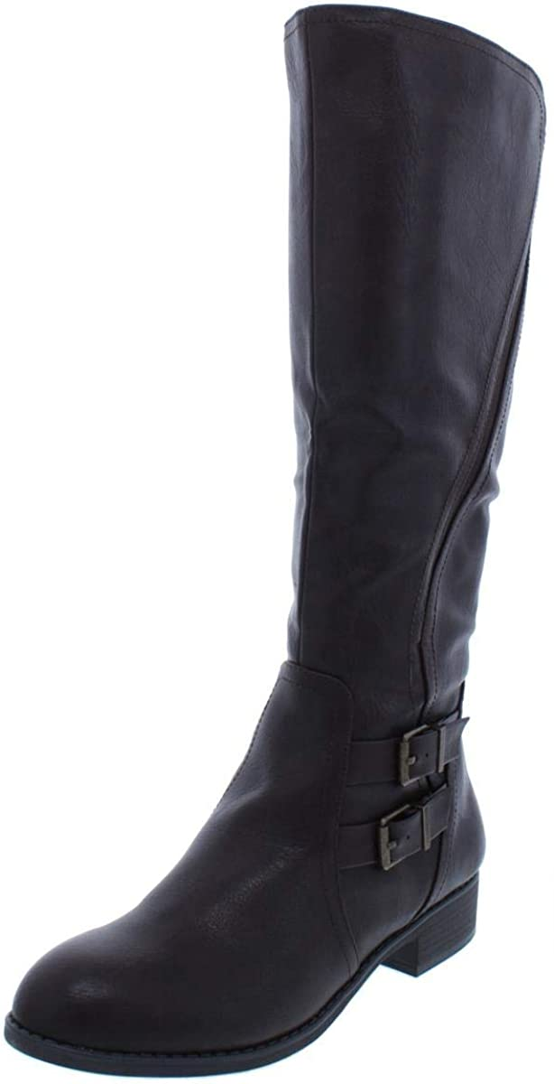Style & Co. Womens Milahp Leather Closed Toe Mid-Calf Cold, Chocolate, Size 5.0