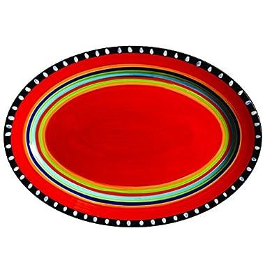 Gibson Elite Pueblo Springs 14  Handpainted Platter, Oval