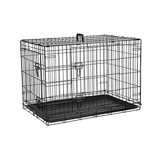 Ribelli Gabbia di trasporto per cani gabbia per cani cassetta per il trasporto scatola di rete scatola cani gabbia metallica cucciolo, taglia:XL 91x64x58 cm