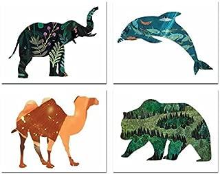 Animal Habitat Collection (Set of Four 11x14 Wall Art Prints), Nursery Decor, Kid's Room Decor, Gender Neutral Nursery Decor, Baby Room, Playroom Decor, Nursery Rhyme Kid's Wall Art