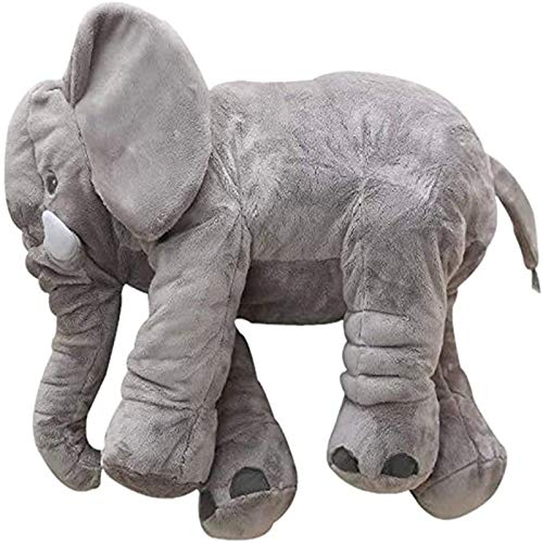 GSDJU Almohada de Elefante de Felpa, Juguete de Felpa Relleno para bebé, Almohada cómoda para Cama de bebé, cojín Suave para Dormir, niña