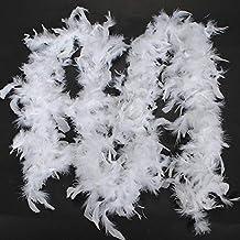 1.8m, Rouge OYSOHE Costume De Soir/ée De Qualit/é Qualit/é Blanc Plume Boa Flapper Poule Nuit Danse Burlesque