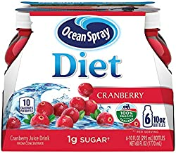 Ocean Spray Diet Cranberry Juice Drink, 10 Ounce Bottle (Pack of 6)