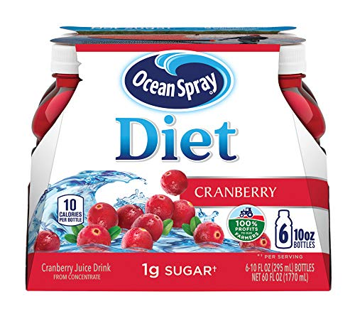 Ocean Spray Diet Cranberry Juice Drink, 10 Ounce Bottle (Pack of 6)
