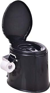 HYCZW Inodoro Portátil, WC Portátil para Camping Inodoro WC Cubo De Viaje Camping WC Portátil para Camping con Extraíble Tener Toallero De Papel Fácil De Limpiar, Tamaño H41.5*D52Cm