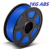 ABS Filament 1.75mm, 3D Warhorse ABS Filament for 3D Printer, Dimensional Accuracy +/- 0.02 mm, (1KG)2.2 LBS,ABS Blue
