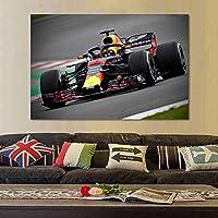 写真マクラーレンF1レースカーウォールアート車両ポスタープリントキャンバスレースウェイレーシングスポーツキャンバス絵画リビングルームベッドルーム-70x140cmフレームなし