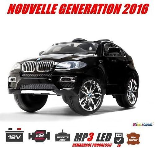 mejor calidad mejor precio BMW X6, negro metalizada, version luxe con mando a a a distancia 2,4gHz, coche eléctrico Niños, 12V, 2motores  venta caliente en línea