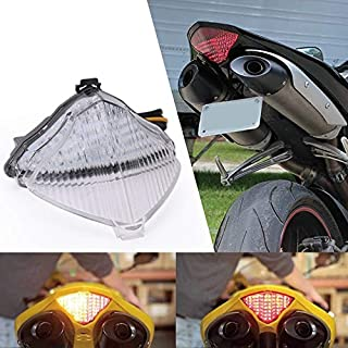 Wotefusi Feu Clignotant Arriere Lampe Signal ABS Injection pour Moto Yamaha YZF R1 2002 2003