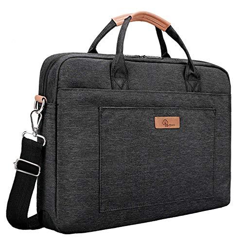 E-Tree 17.3 inch Laptop Sleeve 17 inches Shockproof Foam Computer Shoulder Bag,Black