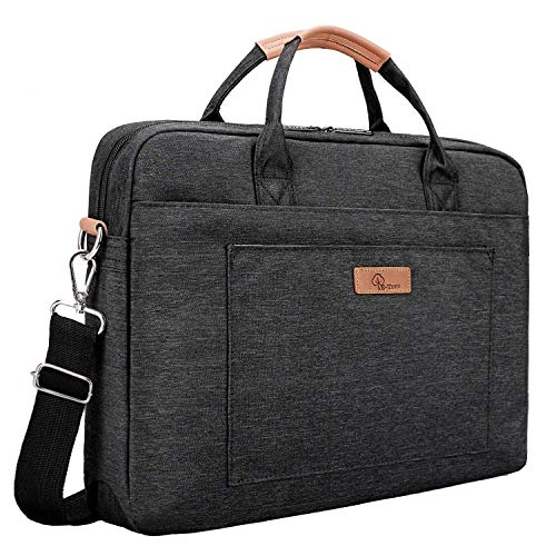 E-Tree 17.3 inch Laptop Sleeve 17 inches Shockproof Foam Computer Shoulder Bag,Black