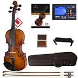 Mendini By Cecilio Violin For Kids & Adults - Beginners Violins Kit For Student w/Case, Rosin, 2 Bows, Tuner, Lesson Book - Starter Musical Stringed Instruments