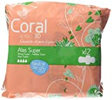 Coral Compresa Ultra Alas Super Paquete de 12 unidades