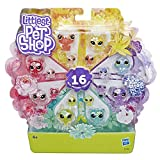 Littlest Pet Shop – Coffret de 16 Figurines Petshop - Collection Jardin Enchanté – 8 Minis Petshop et 8 Teensies Petshop