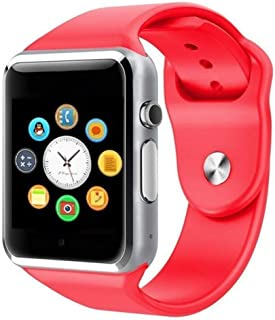 Reepud A1 Smart Watch with Two Colour Bluetooth Smartwatch for Man, Woman, Boys, Girls and Compatible with All Mobile Phones - Red