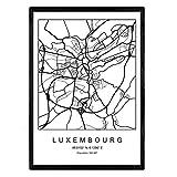Nacnic Drucken Stadtplan Luxemburg skandinavischen Stil in