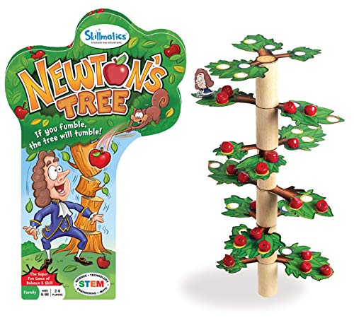 Skillmatics Newton's Tree, Fun Family Game of a Tumbling Tree, Balancing, Stacking, Strategy and Skill Building for Ages 6-99, Gifts for Kids