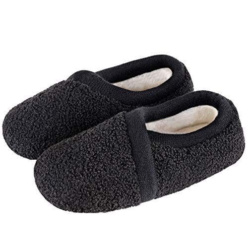 Women's Elastic Fleece House Shoes Comfy Fuzzy Slippers with Memory Foam Insole