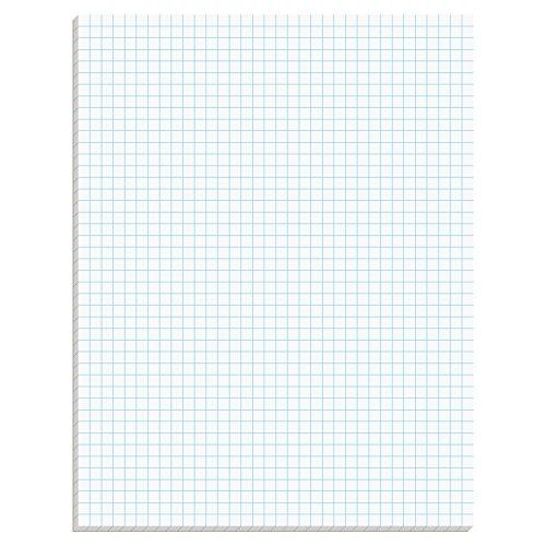 Tops vierkante pad, gum-top, 8-1/5,1 x 27,9 cm, Quad Rule (4 x 4), wit papier, 50 vellen per blok (33140)